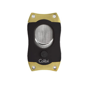 Colibri S Cut Black and Gold Cigar Cutter
