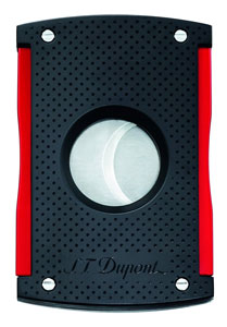 S.T. Dupont Maxijet Matt Black/Red Punched Cigar Cutter