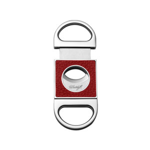 Davidoff Double Blade Cigar Cutter - Red Leather