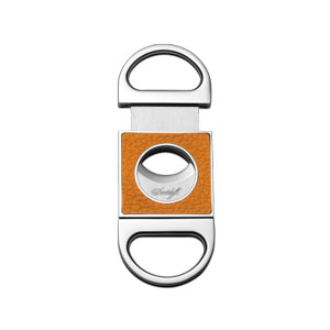 Davidoff Double Blade Cigar Cutter - Saffron Leather