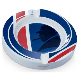 Winston Churchill Union Jack Porcelain Ashtray