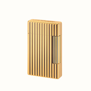 S.T. Dupont Initial Torch Lighter Gold Vertical