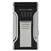 Black Label Flat Flame Cigar Lighter Black & Chrome