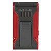 Black Label Flat Flame Cigar Lighter Black & Red