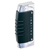 Colibri Quantum Crossfire Cigar Lighter Black & Silver