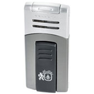 Colibri Quantum Syndicate Lighter Satin Gunmetal & Satin Silver
