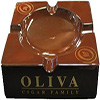 Oliva Brown Ceramic 4 Cigar Ashtray
