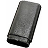 Black Leather 60 Ring Cigar Case Churchill Size