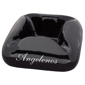 Cloud Angelenos Black Ceramic Cigar Ashtray