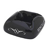 Cloud Sencillo Black Ceramic Cigar Ashtray