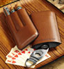 Tommy Bahama Brown Leather Cigar Case