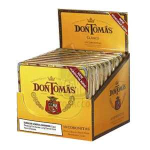 Don Tomas Classico Coronitas Cigarillos 10 Tins of 10