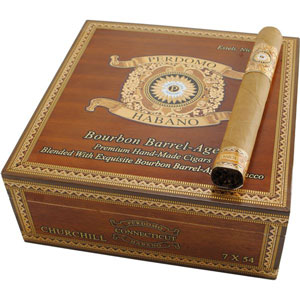 Perdomo Habano Bourbon Aged Connecticut Churchill 5 Pack