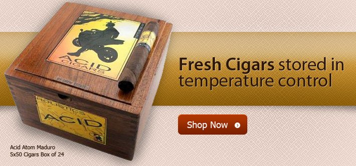 Temperature controlled cigars