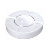 White 10 Inch Round Porcelain Cigar Ashtray